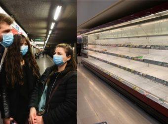 Κορωνοϊός Ιταλία : Τέσσερις ήδη νεκροί, 203 τα κρούσματα – Πανικόβλητοι αδειάζουν τα σούπερ μάρκετ