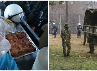 Νοικοκυρές της Ορεστιάδας προσφέρουν φαγητό στους Έλληνες στρατιώτες και αστυνομικούς