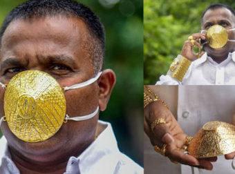 Ινδός πλήρωσε 3.500 ευρώ για μια χρυσή προστατευτική μάσκα για να διαφέρει