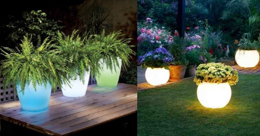 Φτιάξτε τις δικές σας φωτιζόμενες γλάστρες για μαγική ατμόσφαιρα στο μπαλκόνι ή την αυλή σας