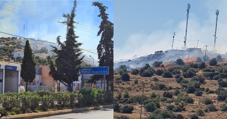 Μεγάλη φωτιά στη Βάρη: Εκκενώνονται τα χωριά SOS – Δείτε βίντεο και φωτογραφίες