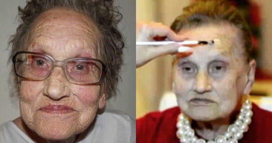 Εγγονή μεταμορφώνει την 80χρονη γιαγιά της μόνο με μακιγιάζ και την κάνει να φαίνεται 30 χρόνια νεότερη