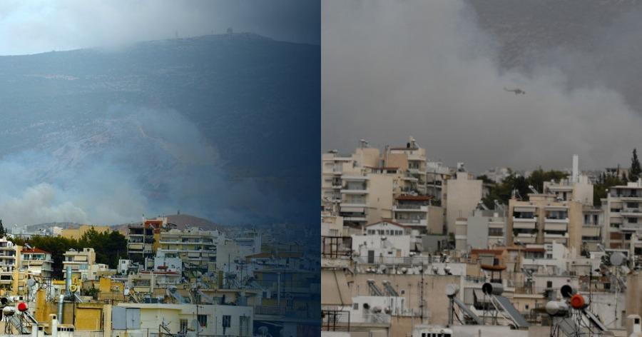 Μεγάλη φωτιά τώρα τον Βύρωνα – Ισχυρές δυνάμεις στην περιοχή