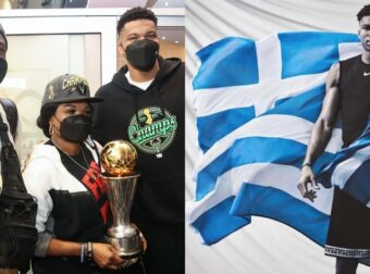 Ο Αντετοκούνμπο στην Ελλάδα: «Με τη βοήθεια του Θεού θέλω να ζήσω μεγάλες επιτυχίες και με την Εθνική Ελλάδος»