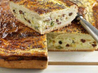 Απίστευτη τυρόπιτα με σταφίδες και κουκουνάρια – Συνταγές